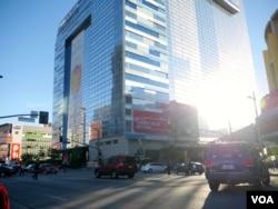洛杉矶酒店住房供不应求(美国之音国符拍摄)