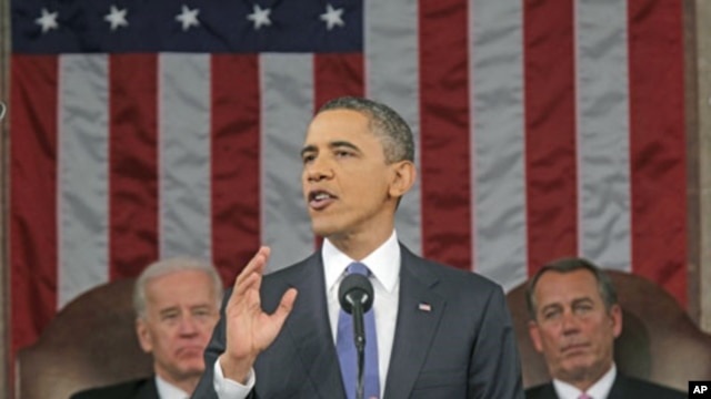 US President Barack Obama delivers his State of the Union address on Capitol Hill in Washington, DC, January 25, 2011 (file photo)