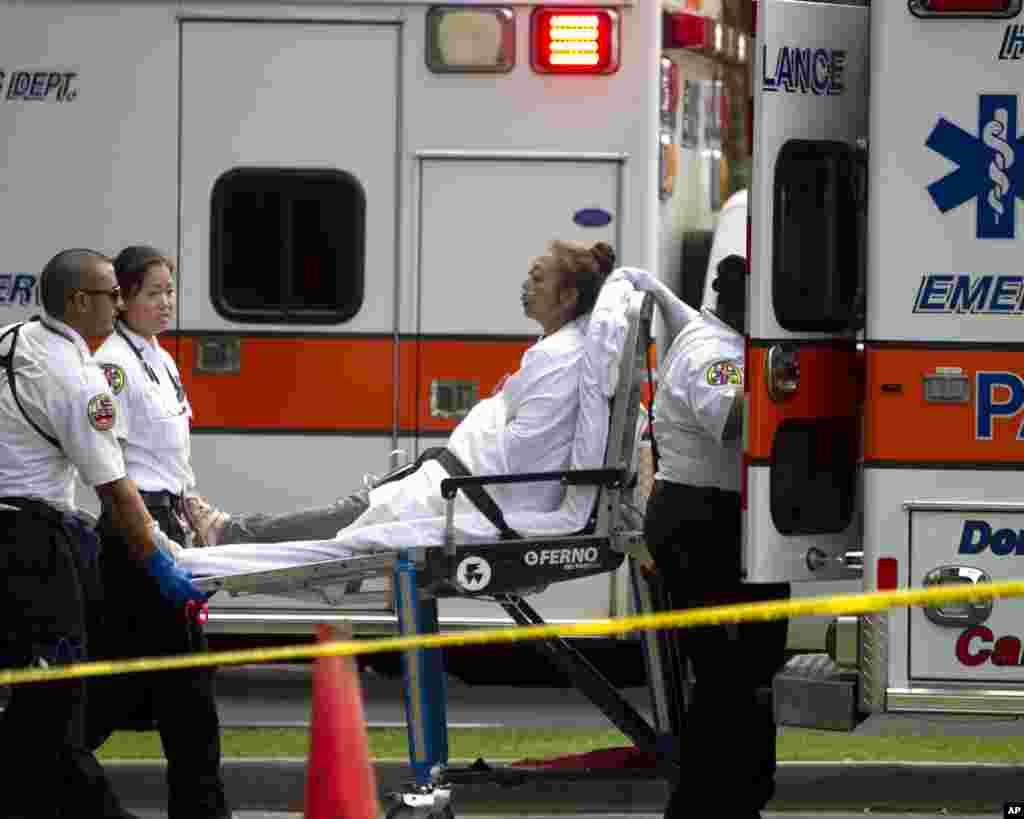 مجروحان آتش سوزی در مجتمع آپارتمانی مارکوپولو در ایالت هاوایی منتقل می شوند.