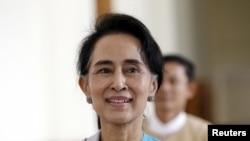 缅甸反对派领袖昂山素季。(资料照片)