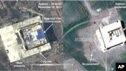 인공위성 '아스트리움'에서 촬영한 북한 동북부 무수단리 로켓 발사장 건설 현장 모습. (AP Photo/Astrium - 38 North)