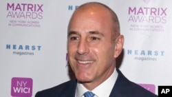 FILE - Matt Lauer attends the Matrix Awards, hosted by New York Women in Communications, at the Sheraton Times Square in New York.
