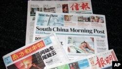 香港和内地报纸都以动车追尾事件为头版头条