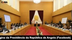 Presidente João Lourenço dirige reunião do Governo provincial do Kwanza Norte, Nadalatando, 14 de Setembro de 2021