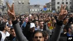 시리아 반정부 시위 모습(자료사진)