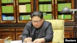 Lãnh tụ Triều Tiên Kim Jong Un, ngày 29/11/2017.