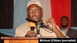 Le président du principal parti de l'opposition Freeman Mbowe.
