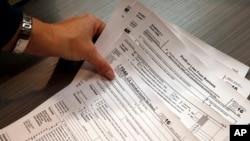 美國的個人所得稅報稅表