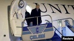 A.B.D. Başkan Yardımcısı Joe Biden'ın uçağı İstanbul'a vardı