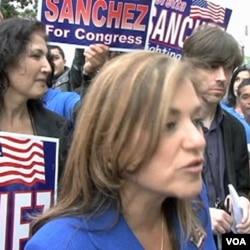 Loretta Sanchez dalam sebuah kampanye baru-baru ini.
