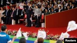 Tổng thống Đài Loan Thái Anh dự lễ kỉ niệm Ngày Quốc khánh ở Đài Bắc, Đài Loan, ngày 10 tháng 10, 2018.