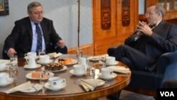 დავით უსუფაშვილი ესტონეთის პრეზიდენტთან შეხვედრის დროს