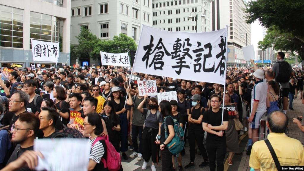 Người dân Hồng Kông xuống đường biểu tình phản đối dự luật dẫn độ suốt gần một tháng qua.