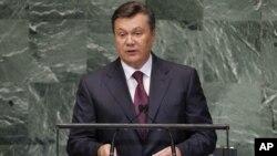 Виктор януковия выступает в с речью на 67-й сессии Генеральной ассамблеи ООН. Нью-Йорк, 26 сентября 2012 года