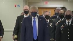 Donald Trump est apparu pour la première fois portant en public un masque