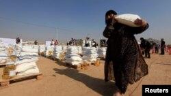 逃出摩蘇爾居民在東部難民營。