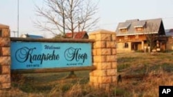 The entrance to the unique South African town of Kaapsche Hoop, where some Malawian brothers known locally as 'the Blantyre Boys' are working