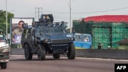 La police a quadrillé la ville de Kinshasa, RDC, 30 novembre 2017