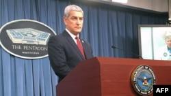 Kelly McKeague, Direktur Badan Pencarian Tahanan Perang dan Tentara AS yang Hilang, berbicara di Pentagon, Kamis (2/8).