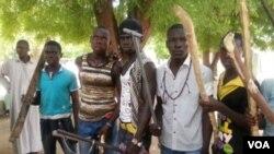 Wasu matasa 'yan banga a Maiduguri