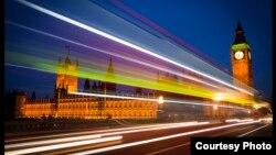 영국 런던의 야경 (자료사진)