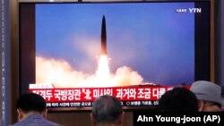 Truyền hình Hàn Quốc chiếu hình tư liệu về hoạt động phóng tên lửa của Triều Tiên, 31/7/2019