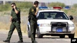 미국 애리조나 주 멕시코 국경 지대의 미 국경순찰대원들. (자료사진)