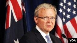 Menteri Luar Negeri Australia, Kevin Rudd (22/2).