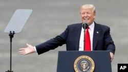 Президент США Дональд Трамп. Цинциннати, Огайо. 7 июня 2017 г.