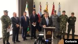 La autoridades colombianas relevaron imágenes y videos de cabecillas del ELN en territorio venezolano.