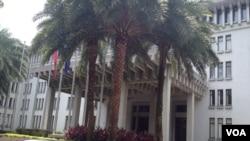 台湾外交部大楼(美国之音莉雅拍摄)