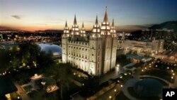 美国犹他州盐湖城的摩门教堂(资料照)