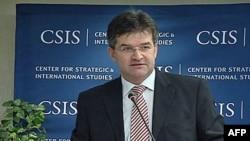 Izvršni direktor Evropske službe za spoljne poslove, Miroslav Lajčak, govori u Centru za strateške i međunarodne studije
