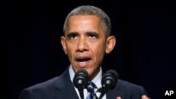 FILE - President Barack Obama speaking in Washington, Feb. 5, 2015.
