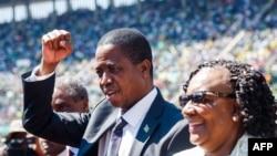 Edgar Lungu, président ya Zambie mpe mokambi ya SADC, na Harare, Zimbabwe, 26 août 2018.