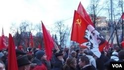 俄共10月革命95週年在莫斯科集會
