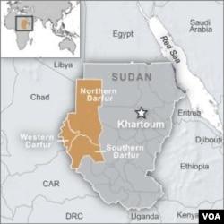 map of Darfur