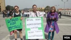 აბორტის მომხრეთა და მოწინააღმდეგეთა პარალელური აქციები თბილისში