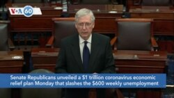VOA60 America - Senate Republicans unveiled a $1 trillion coronavirus economic relief plan