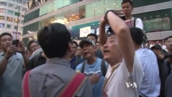 Hong Kong Pro-Democracy Supporters Battle With Anti-Occupy Workers