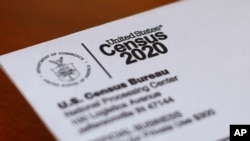 FILE - This April 5, 2020, photo shows an envelope containing a 2020 census letter mailed to a U.S. resident in Detroit.