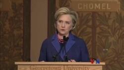 လူ႔အခြင့္အေရးလႈပ္ရွားသူ မေ၀ေ၀ႏု ၂၀၁၈ Hillary Clinton ဆု ခ်ီးျမွင့္ခံရ