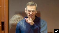 Pemimpin Oposisi Rusia Alexey Navalnydi Pengadilan Distrik Babuskinsky, Moskow, Rusia, 16 Februari 2021. (Foto: dok).