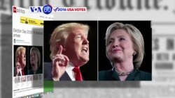 VOA60 Elections - US Voters Head to Polls in Droves After Bitter Presidential Campaign