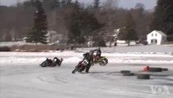 冰上摩托赛吸引各行各业、各年龄段爱好者