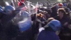 İtalya'da G-7 Protestosu