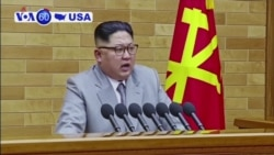 VOA60 America 1-1- Kim Jong Un said the US must realize that the North's nuclear program is a reality