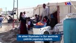 Sur'daki Evini Kaybedince Çadıra Yerleşti