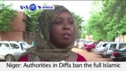 VOA60 Africa- Authorities in Diffa ban the full Islamic veil following suicide attacks- July 30, 2015