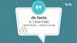 学个词--de facto